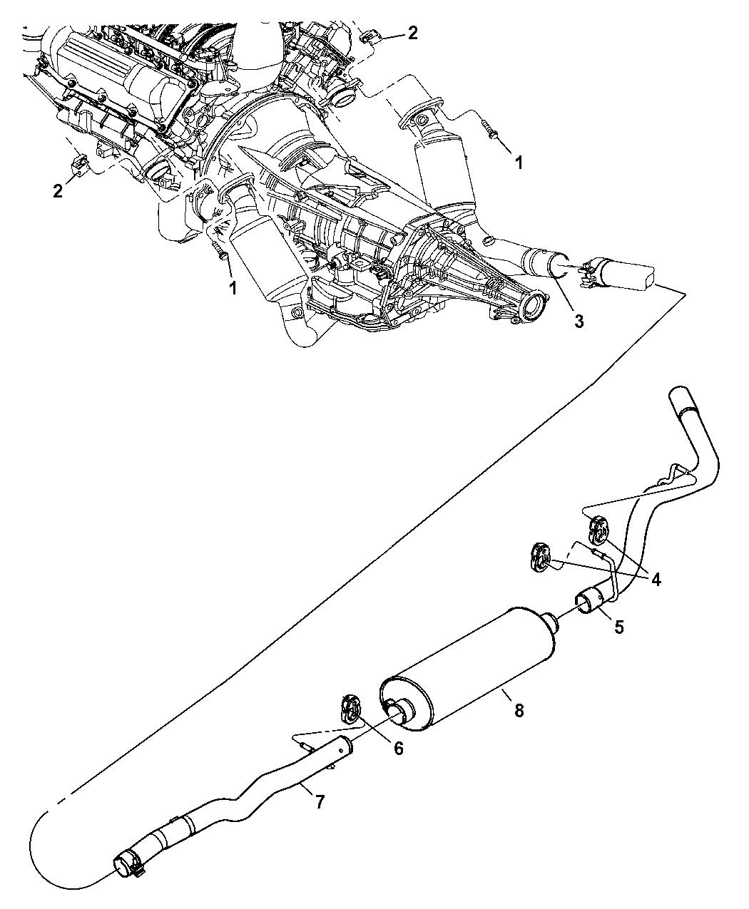 2005 Dodge Dakota Exhaust System