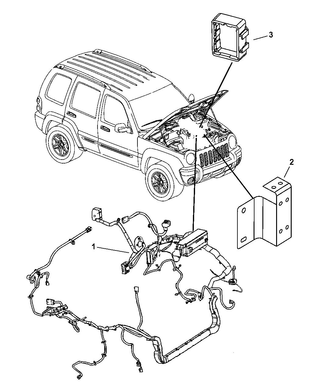 56047655ac Genuine Jeep Wiring Headlamp To Dash 2007 Headlight Diagram Liberty