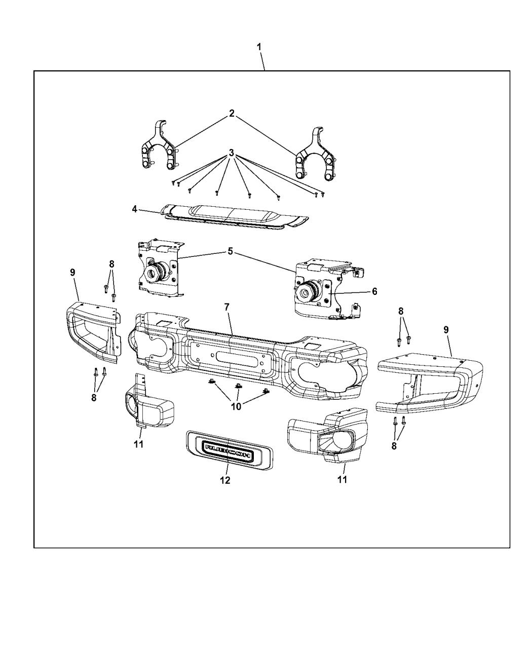 82213575ab Genuine Jeep Bumper Front