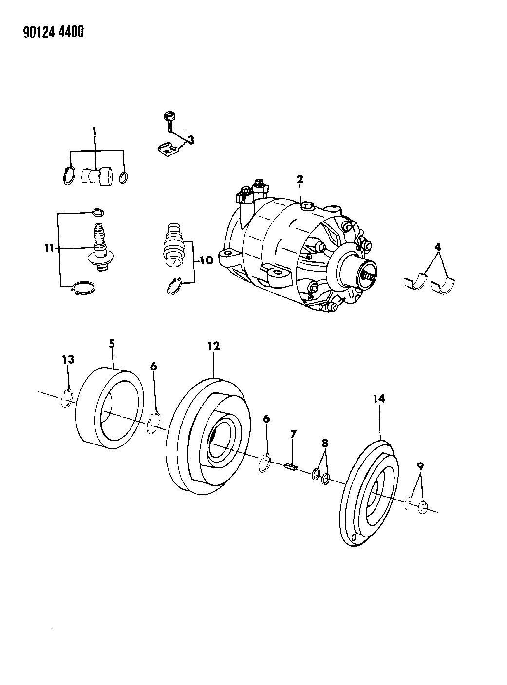 1990 Chrysler Imperial A C Compressor Mopar Parts Giant Wiring Diagram