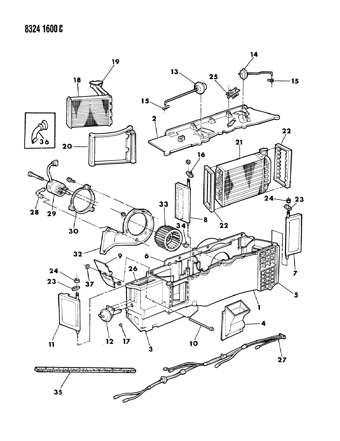 Air Conditioning Parts : Dodge d air conditioner heater unit mopar
