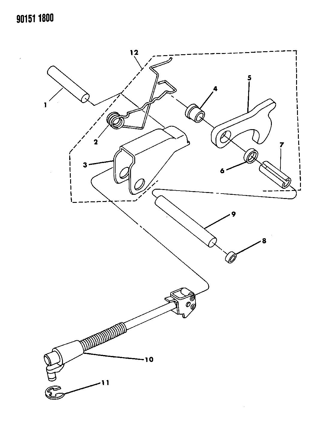 1990 chrysler new yorker base model parking sprag
