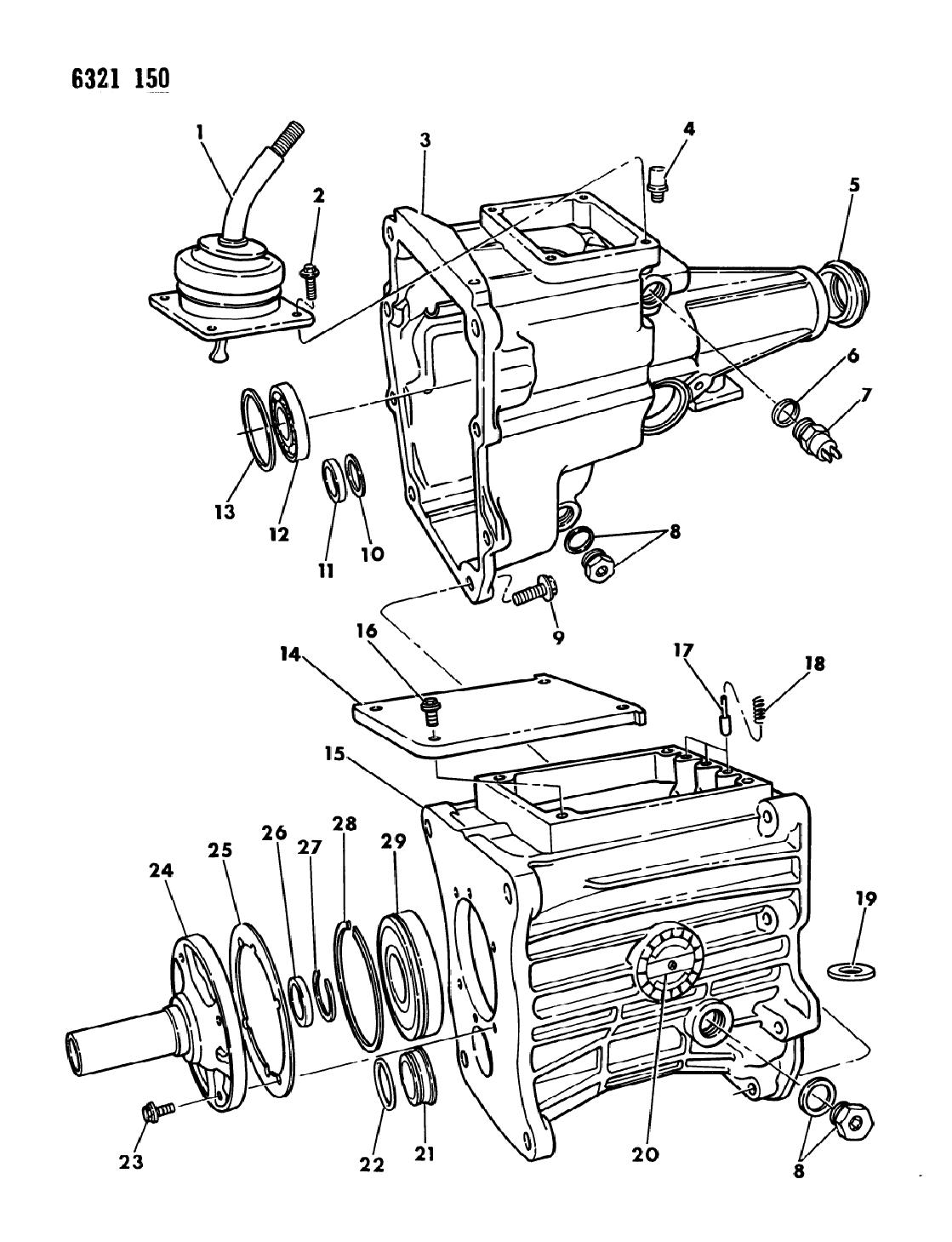 1987 dodge dakota transmission case extension miscellaneous parts rh moparpartsgiant com Dodge Dakota Automatic Transmission Shift Module 5 Speed Manual Transmission