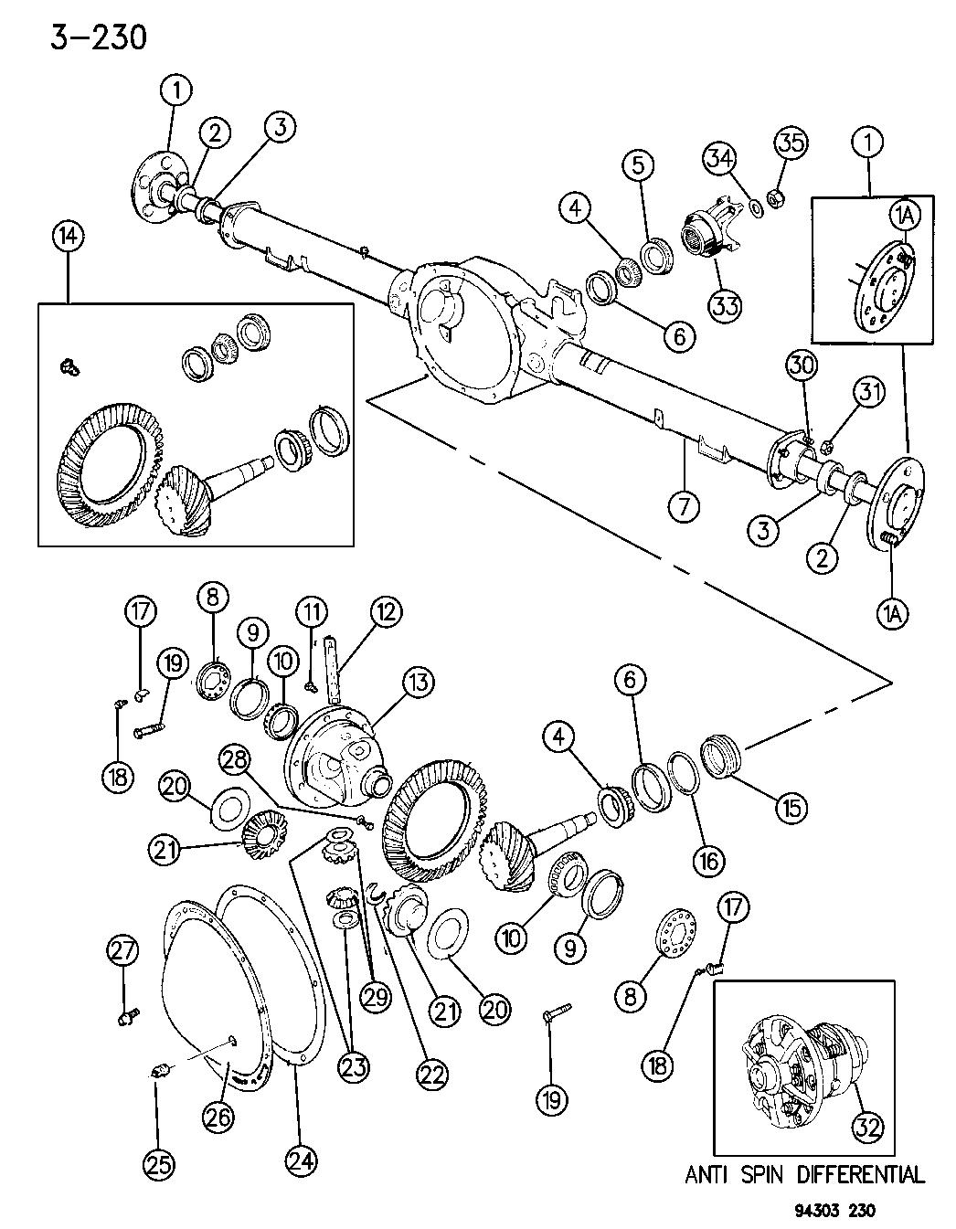 Dodge 925 Rear Axle Diagram