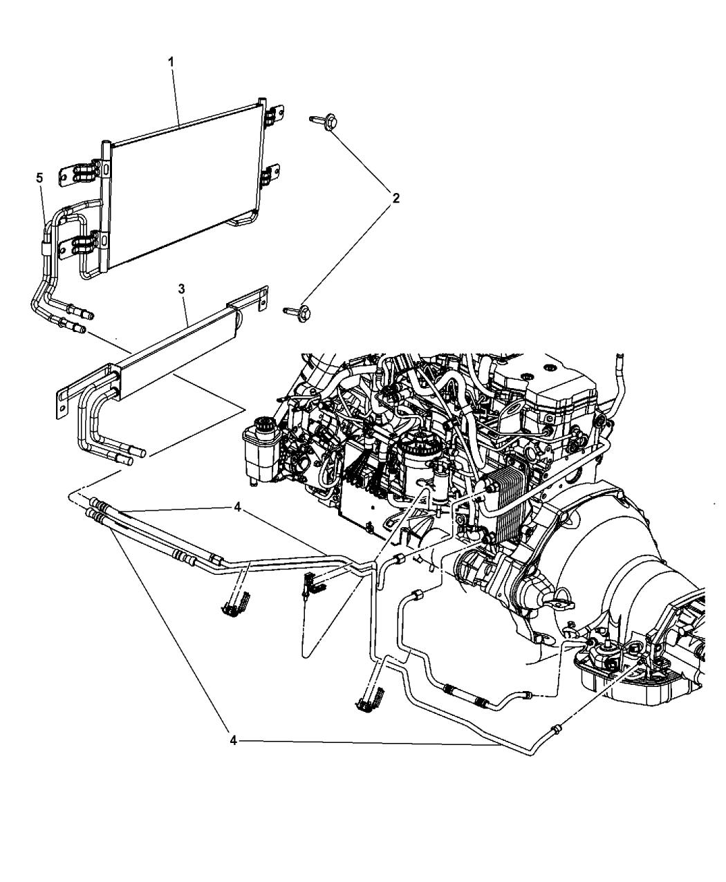 Ultimate Dodge Dodge Cummins Transmission Cooler Lines