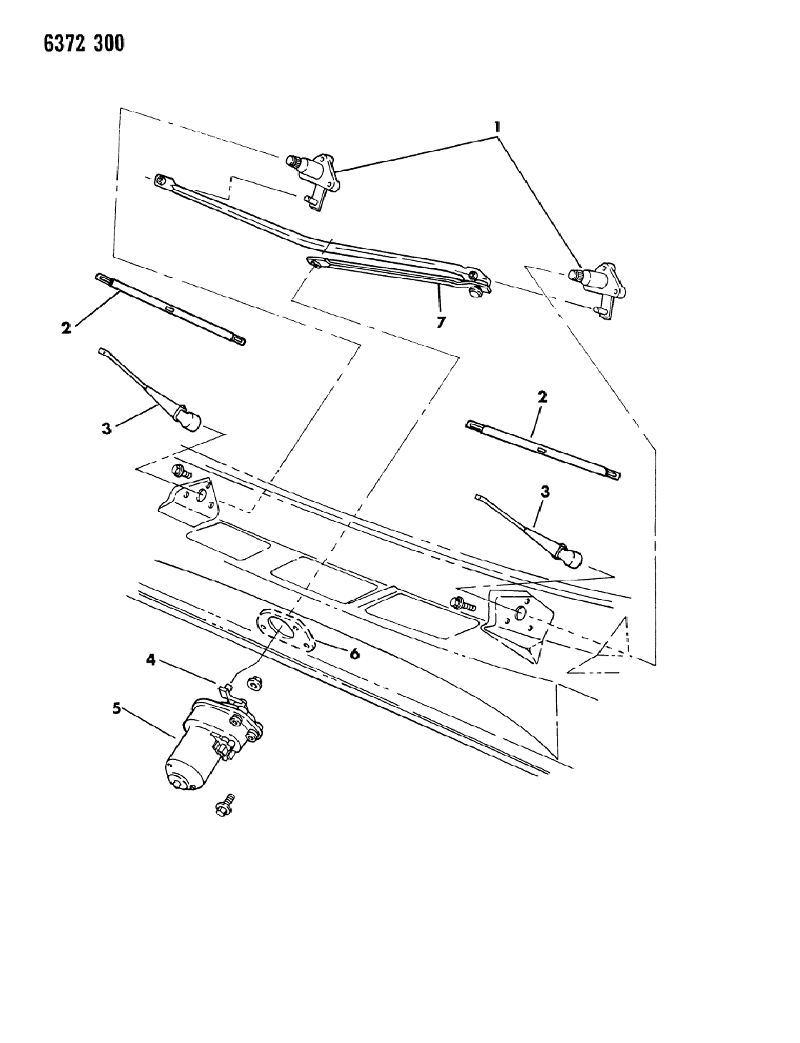 1987 Dodge Ramcharger Windshield Wiper System - Mopar Parts ... on cyclone wiring diagram, malibu wiring diagram, challenger wiring diagram, regal wiring diagram, caravan wiring diagram, allante wiring diagram, w200 wiring diagram, thunderbolt wiring diagram, charger wiring diagram, d150 wiring diagram, explorer wiring diagram, chrysler wiring diagram, van wiring diagram, vip wiring diagram, ram wiring diagram, viper wiring diagram, tracker wiring diagram, suburban wiring diagram, pickup wiring diagram, dakota wiring diagram,