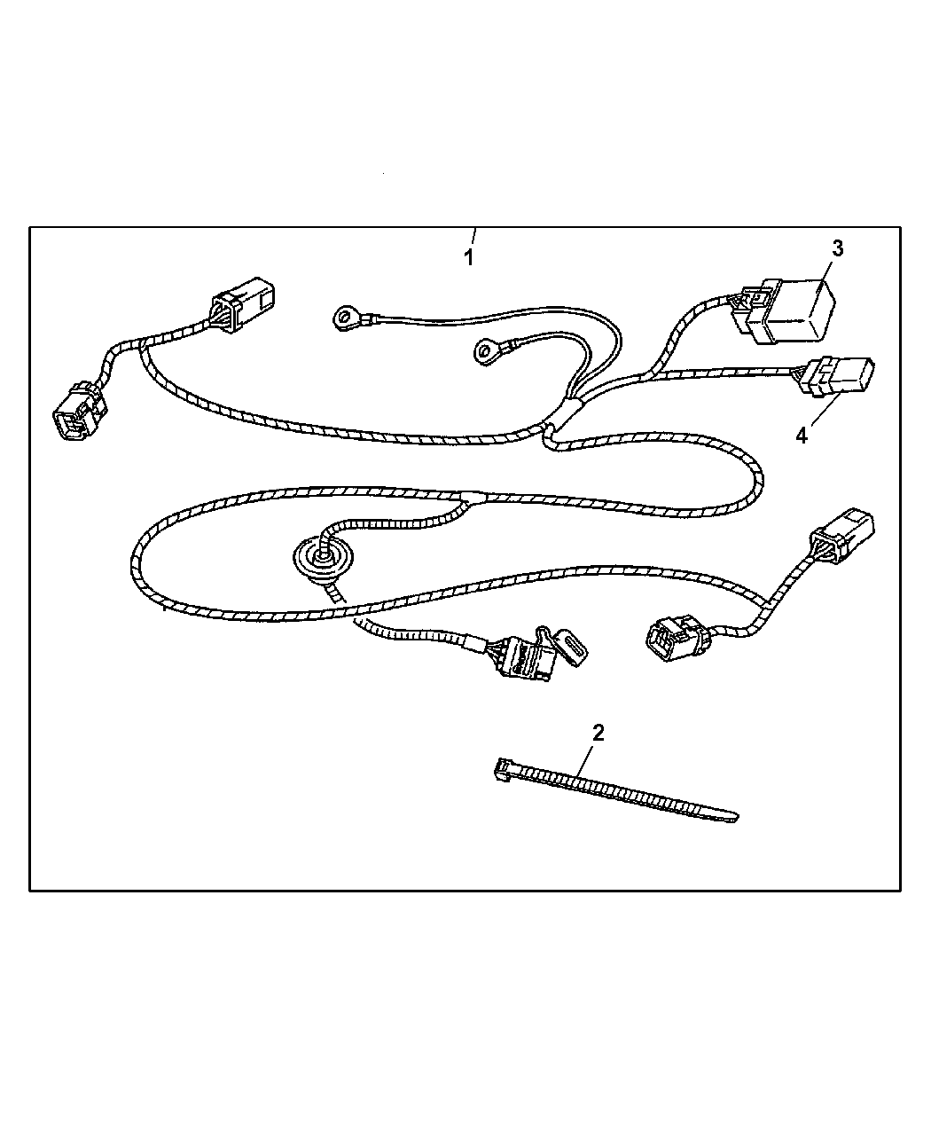82209472 - Genuine Chrysler Wiring-trailer Tow