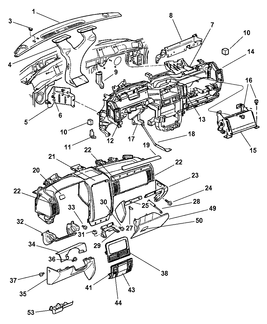 2002 Jeep Grand Cherokee Parts Diagram