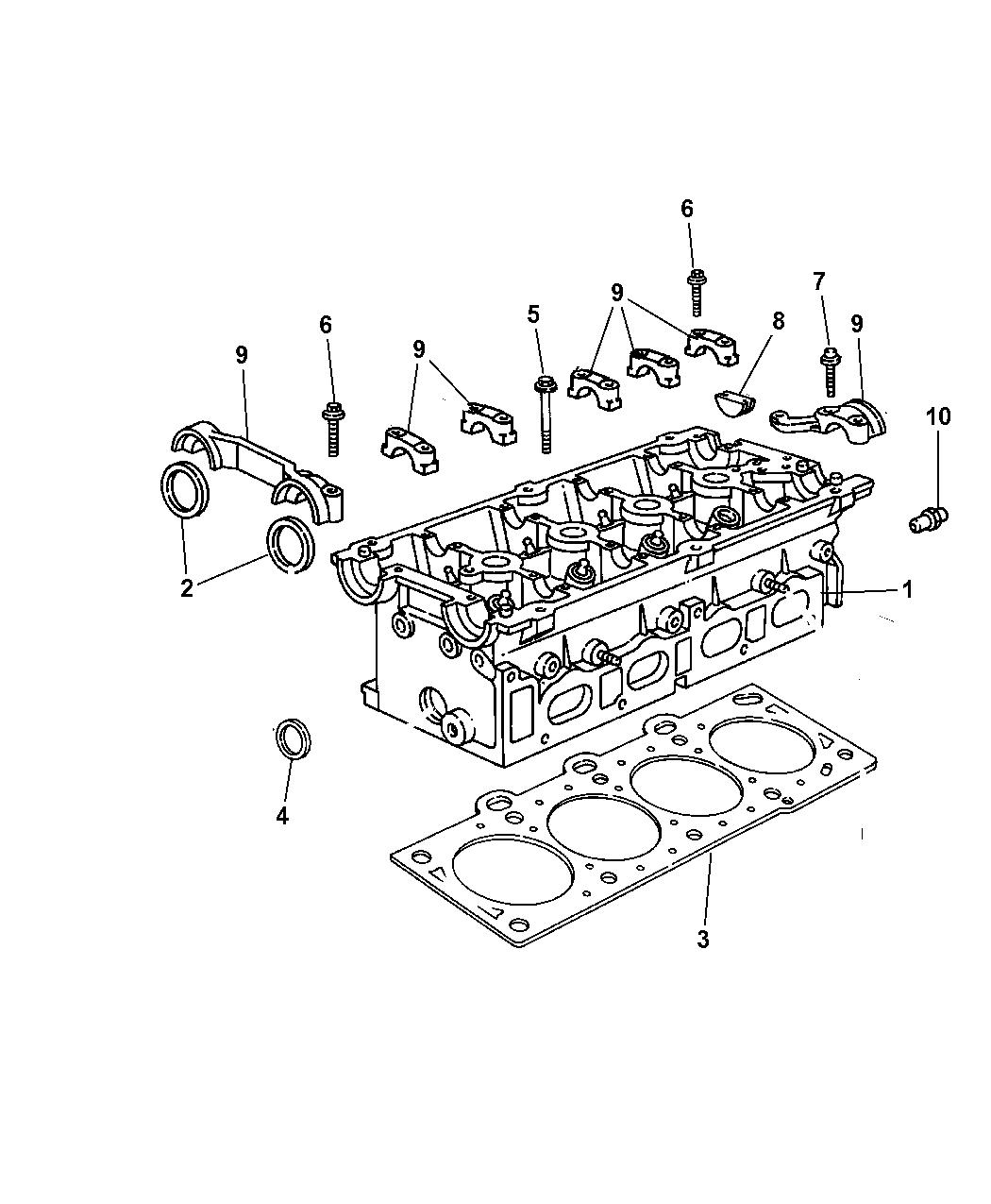 2009 Chrysler Pt Cruiser Cylinder Head Cover Engine Diagram Thumbnail 2