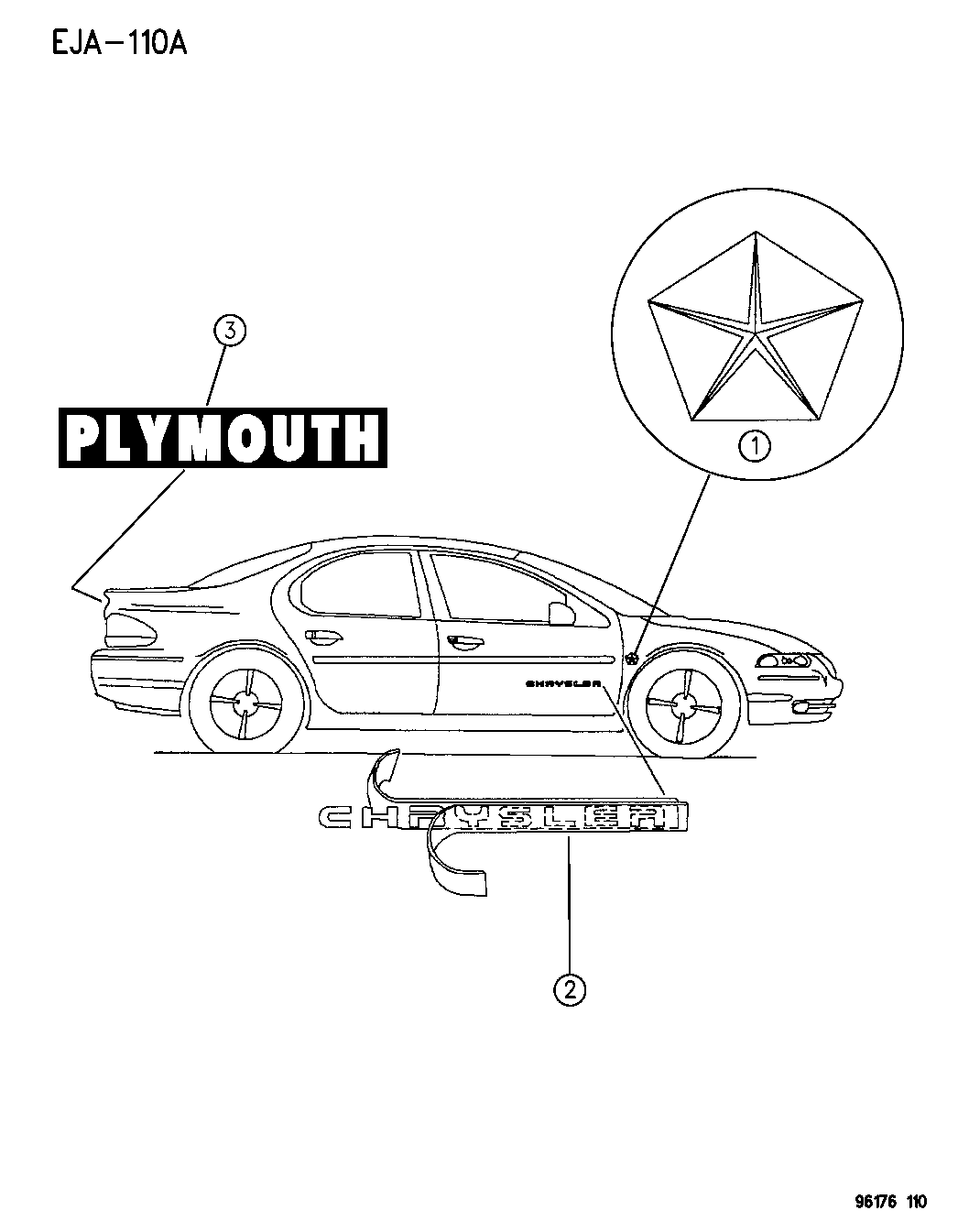 [WRG-7679] 1996 Plymouth Breeze Engine Diagram