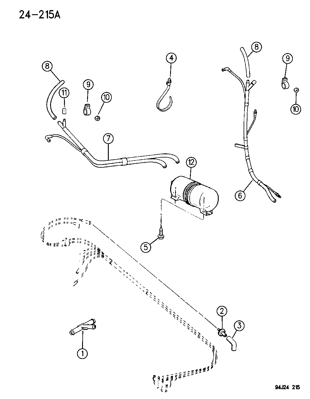 1996 Jeep Cherokee Lines - Heater & A/C Vacuum