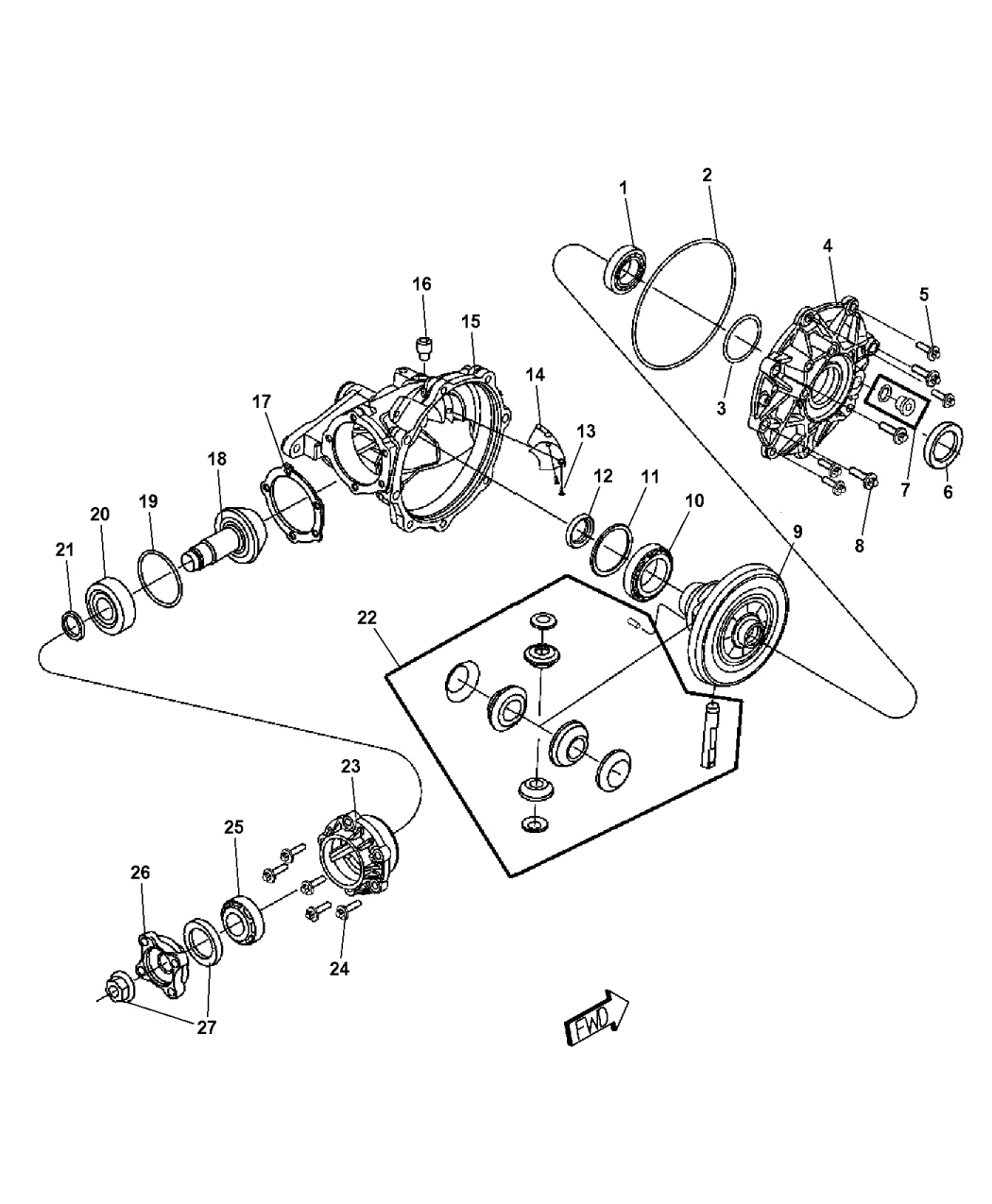 2017 Chrysler 300 Housing And Differential With Internal Components