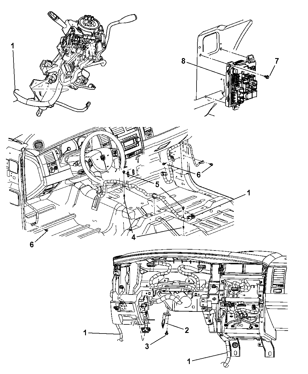 56049419AH - Genuine Dodge WIRING-INSTRUMENT PANEL