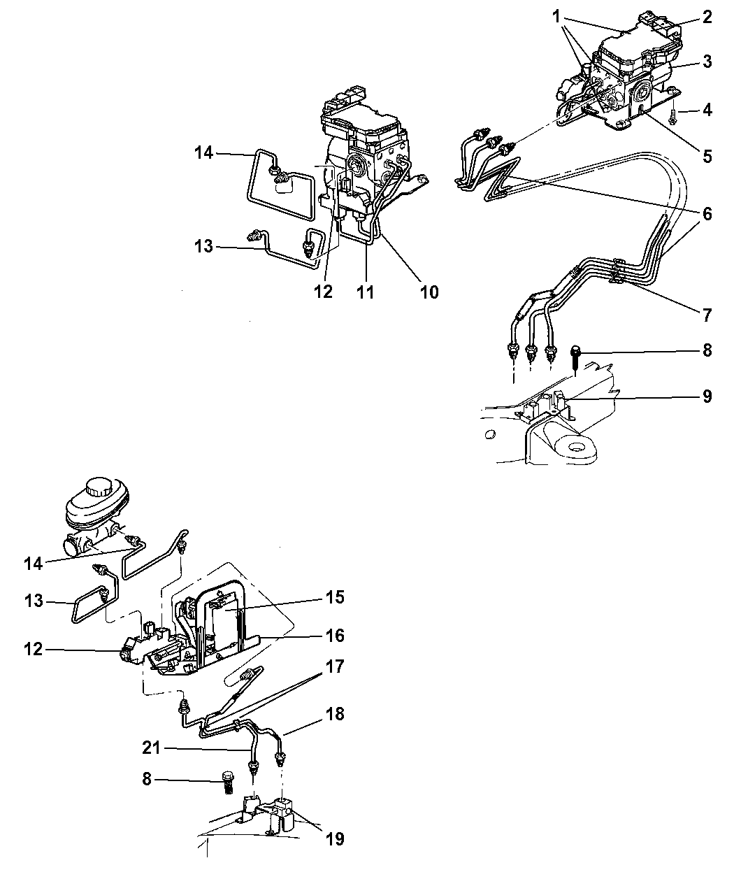 1999 Dodge Dakota Lines - Brake