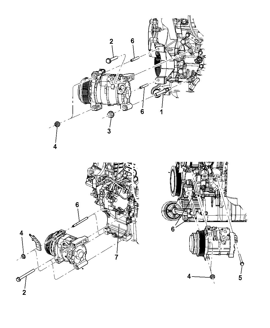 2010 dodge grand caravan a c compressor mounting 1995 Dodge Caravan Vacuum Diagram A C Controls