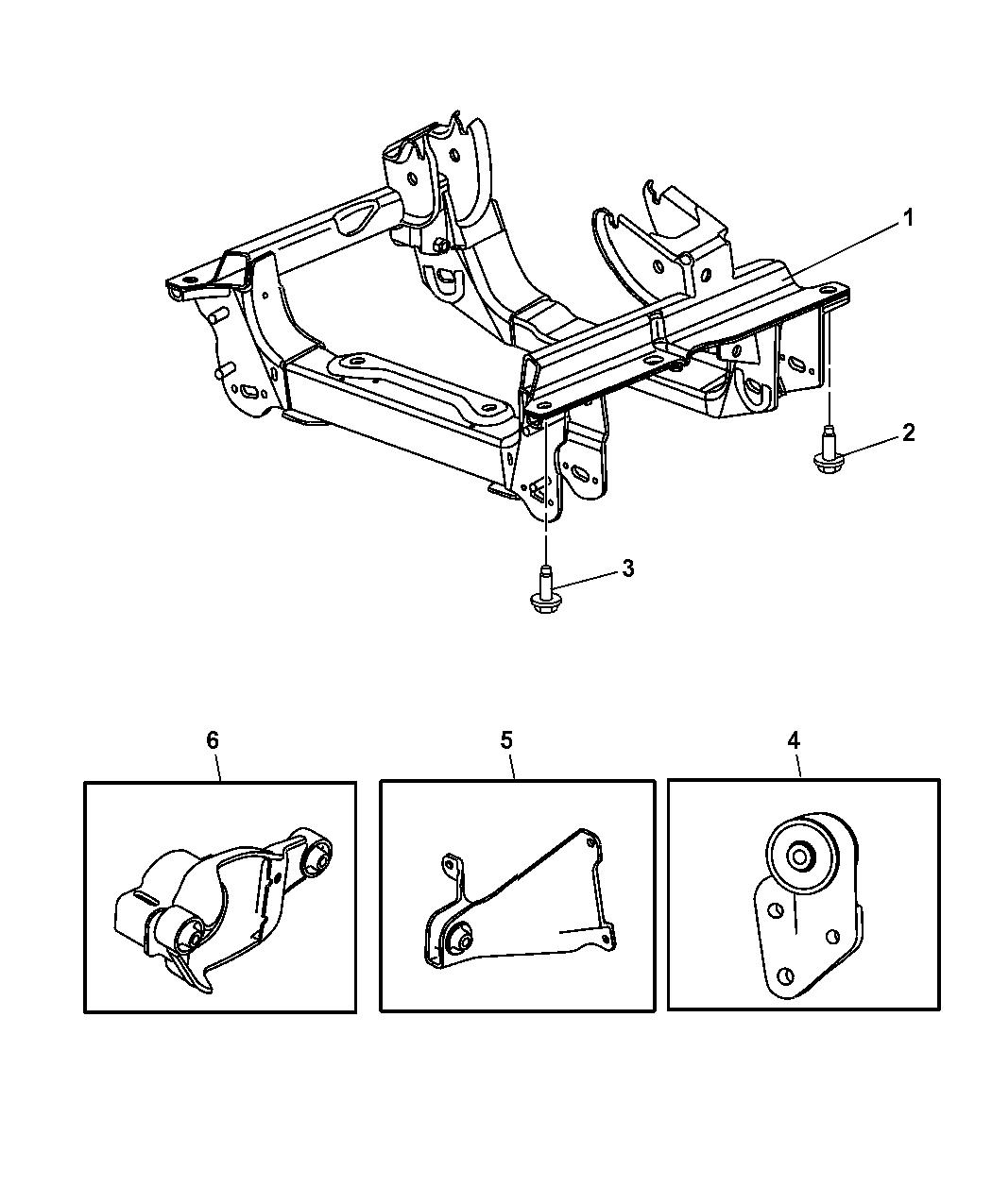 2006 Jeep Liberty Cradle  Front Suspension  U0026 Attaching Parts