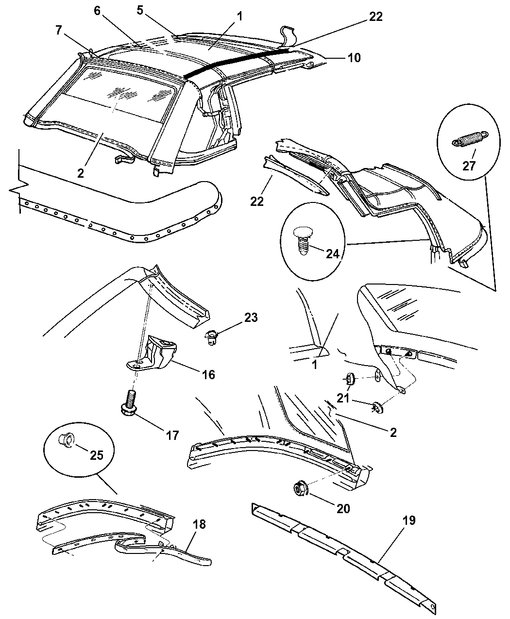 2006 Chrysler Sebring Convertible Top