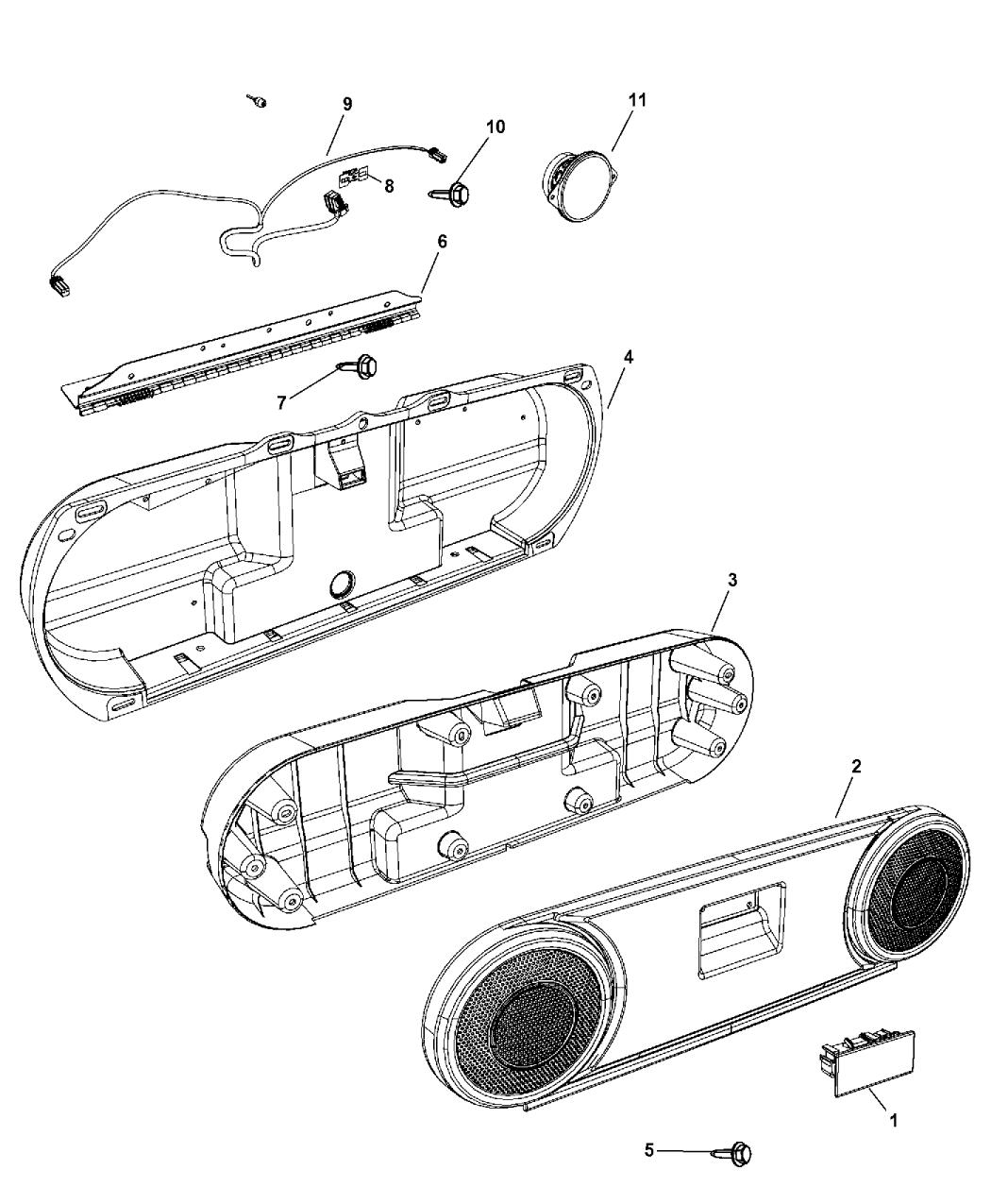 2015 Jeep Compass Liftgate Speaker System Mopar Parts Giant Wiring Diagram