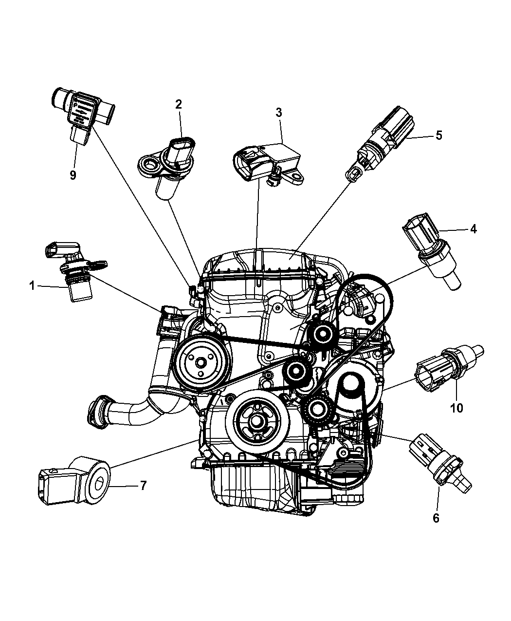 2012 Dodge Avenger Sensors Engine Mopar Parts Giant