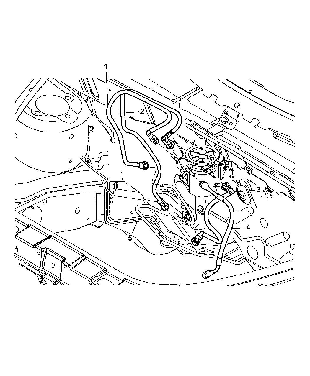 2004 Chrysler PT Cruiser Lines - Fuel Supply & Filter
