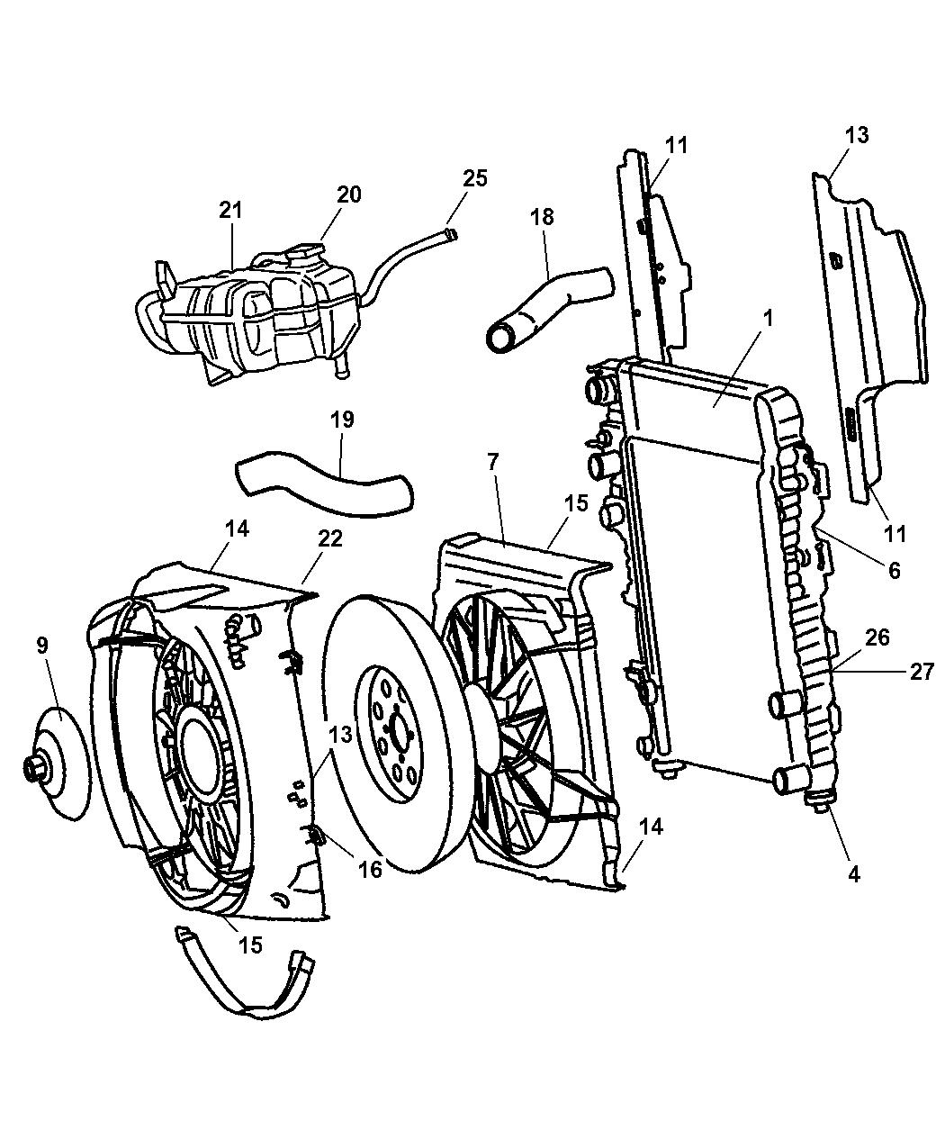 Mopar 52080118AB Radiator