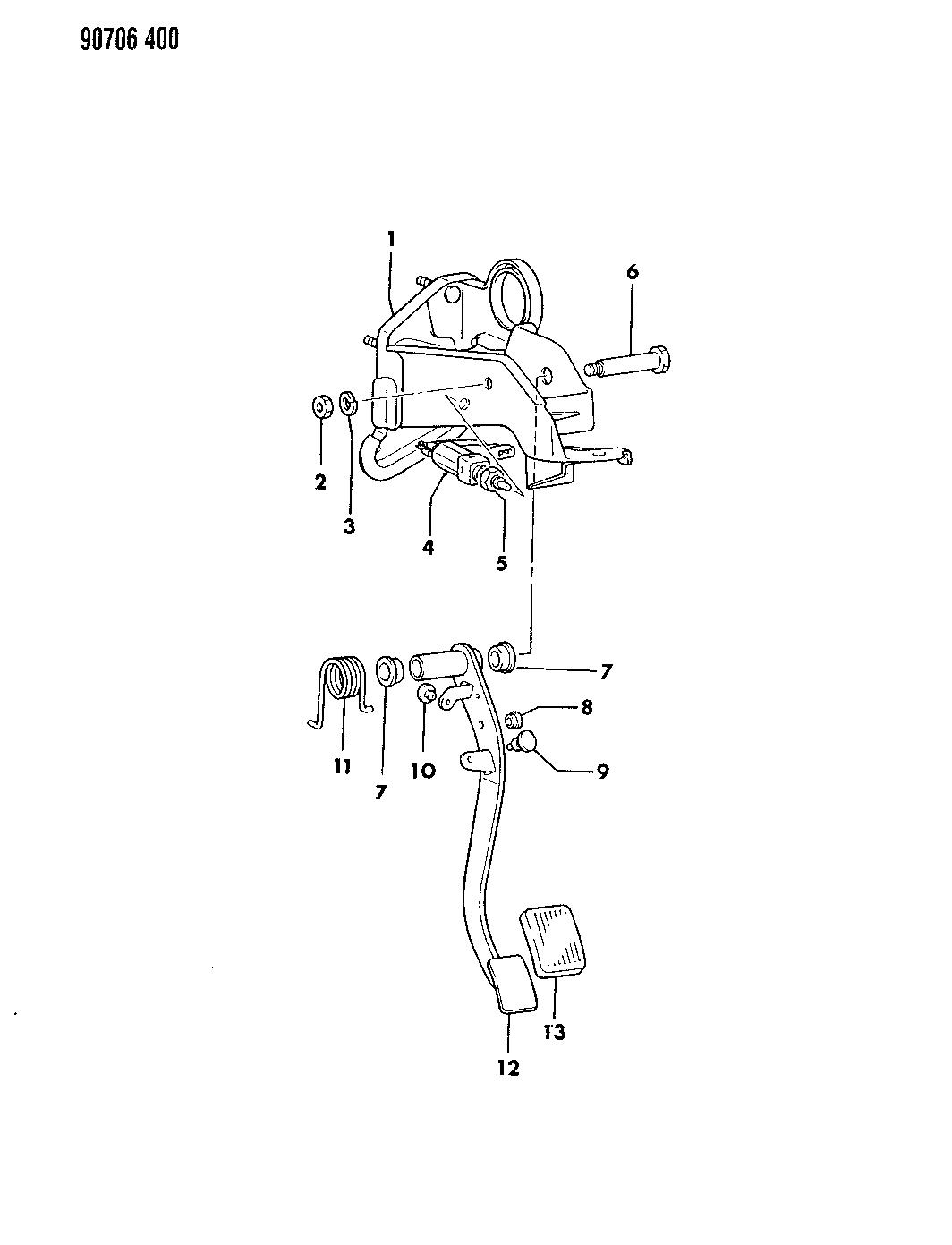 1990 Dodge Colt Clutch Pedal - Thumbnail 1