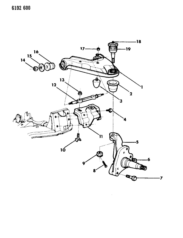 1986 Dodge Diplomat Arm-Upper Control - Mopar Parts Giant