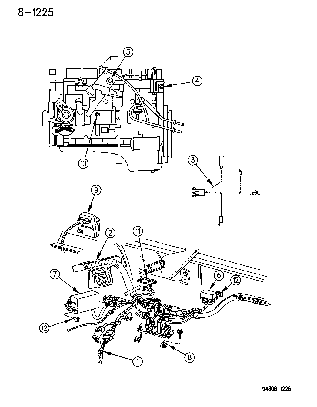 1995 Dodge Ram 2500 Wiring - Engine
