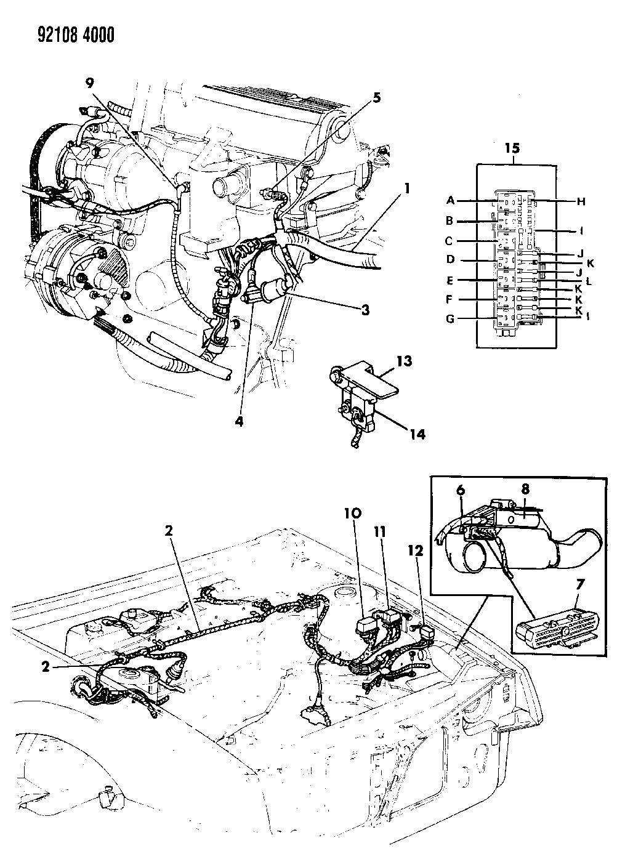 chrysler lebaron fuse box wiring diagrams Dodge Challenger Fuse Box