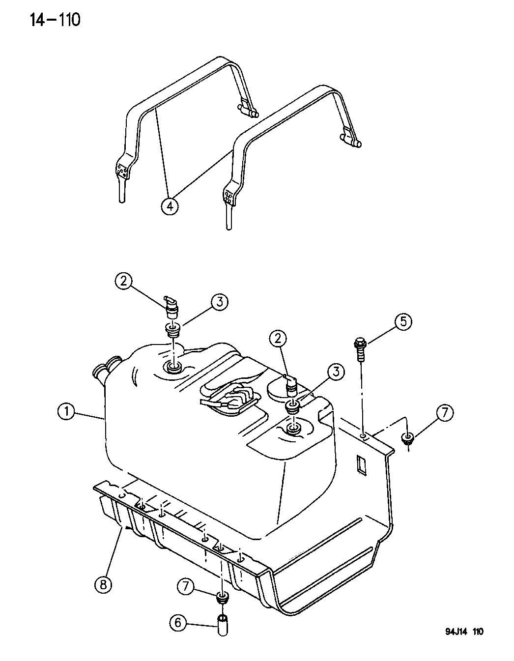 1994 jeep wrangler fuel tank