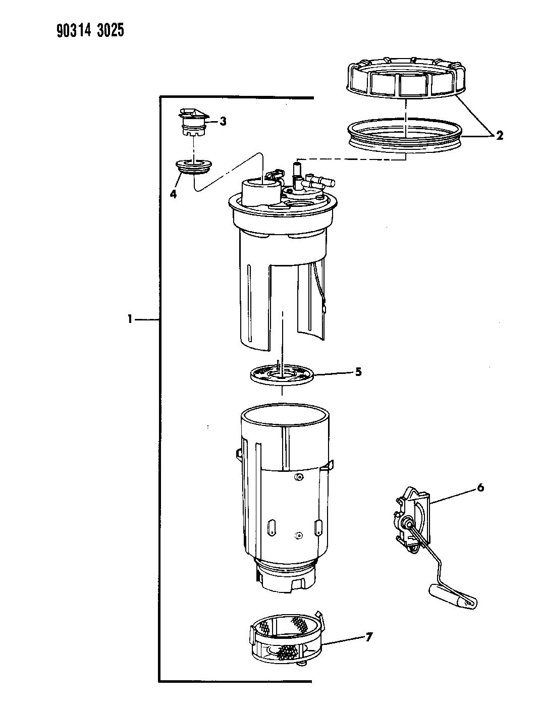 1993 dodge d250 fuel reservoir  u0026 level unit