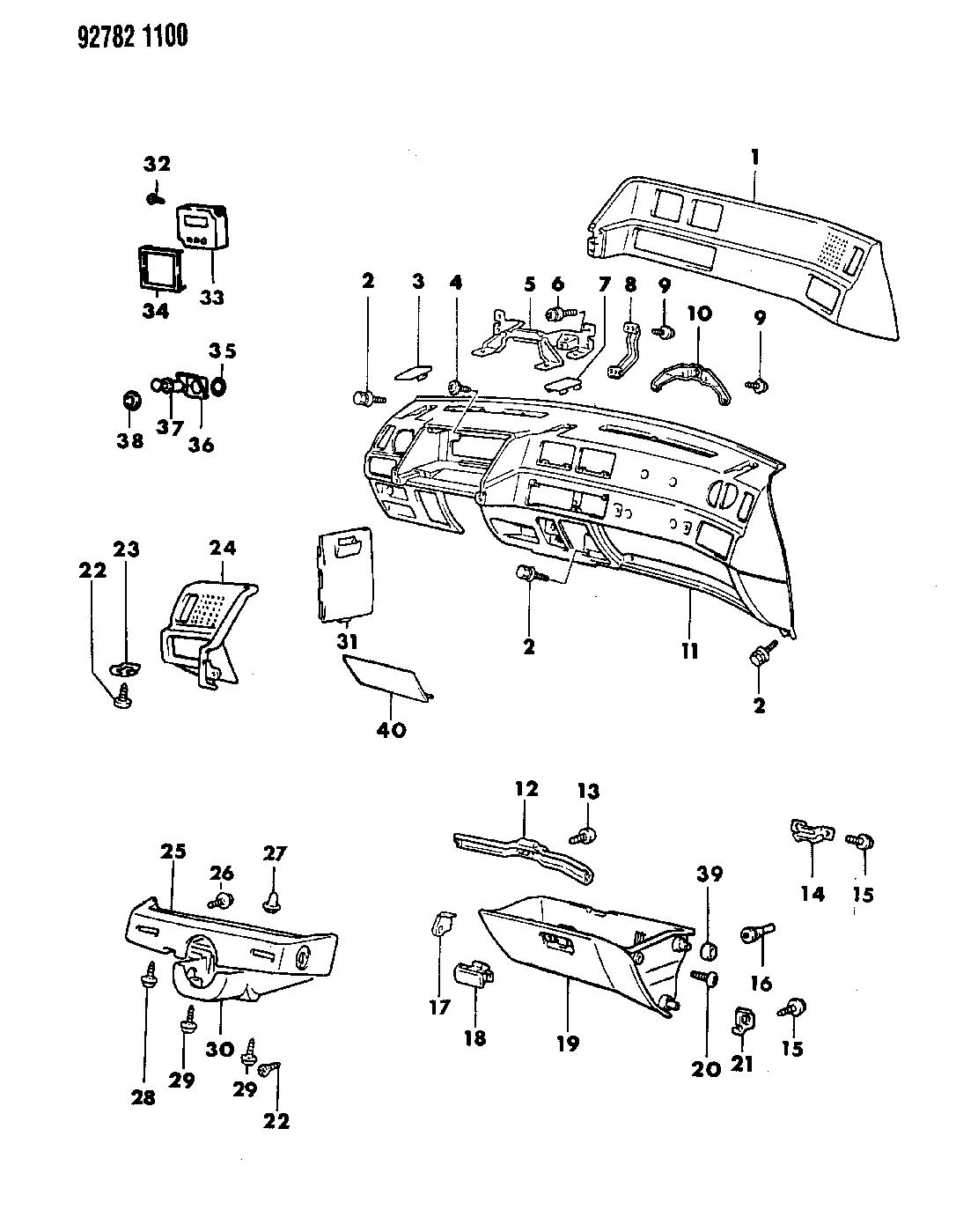 1993 Dodge Colt Instrument Panel - Thumbnail 1
