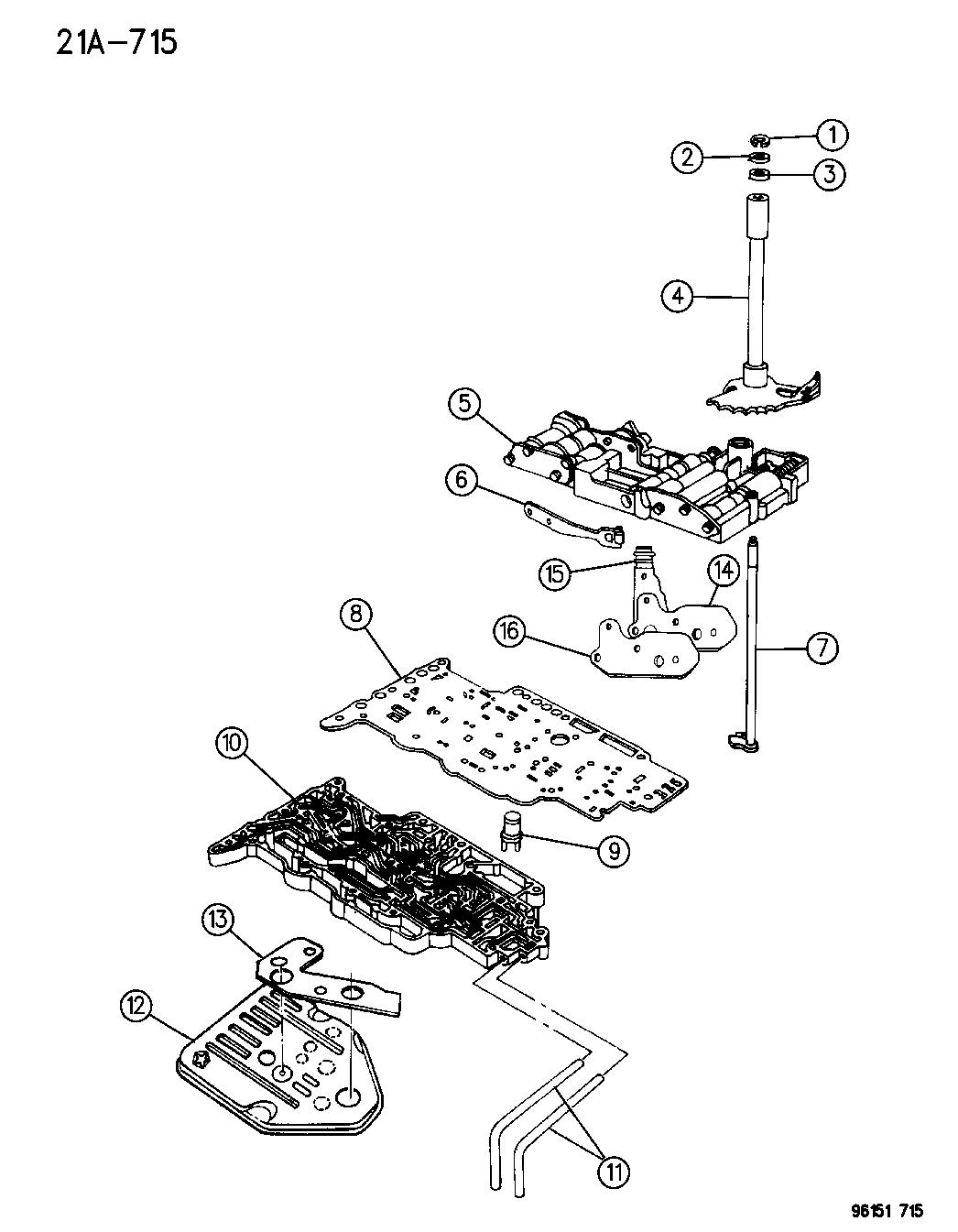 manual valve body repair 41te