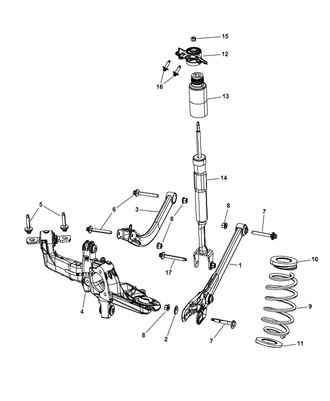 2013 Dodge Dart Suspension Rear Mopar Parts Giant