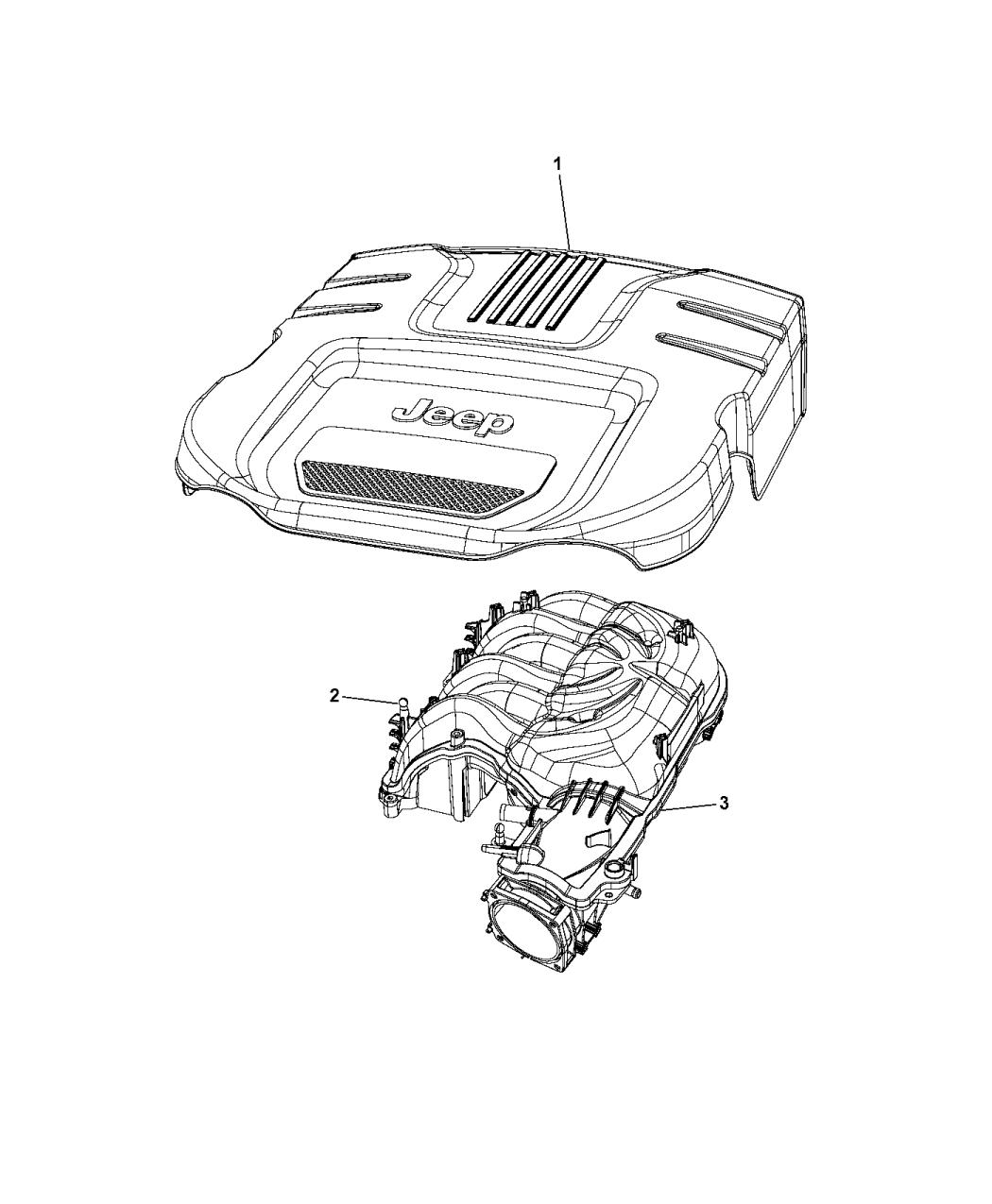 2014 jeep wrangler engine cover &