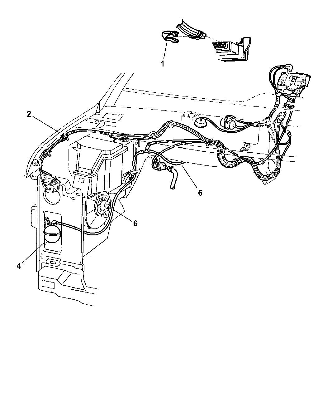 2000 Dodge Ram Van Vacuum Lines