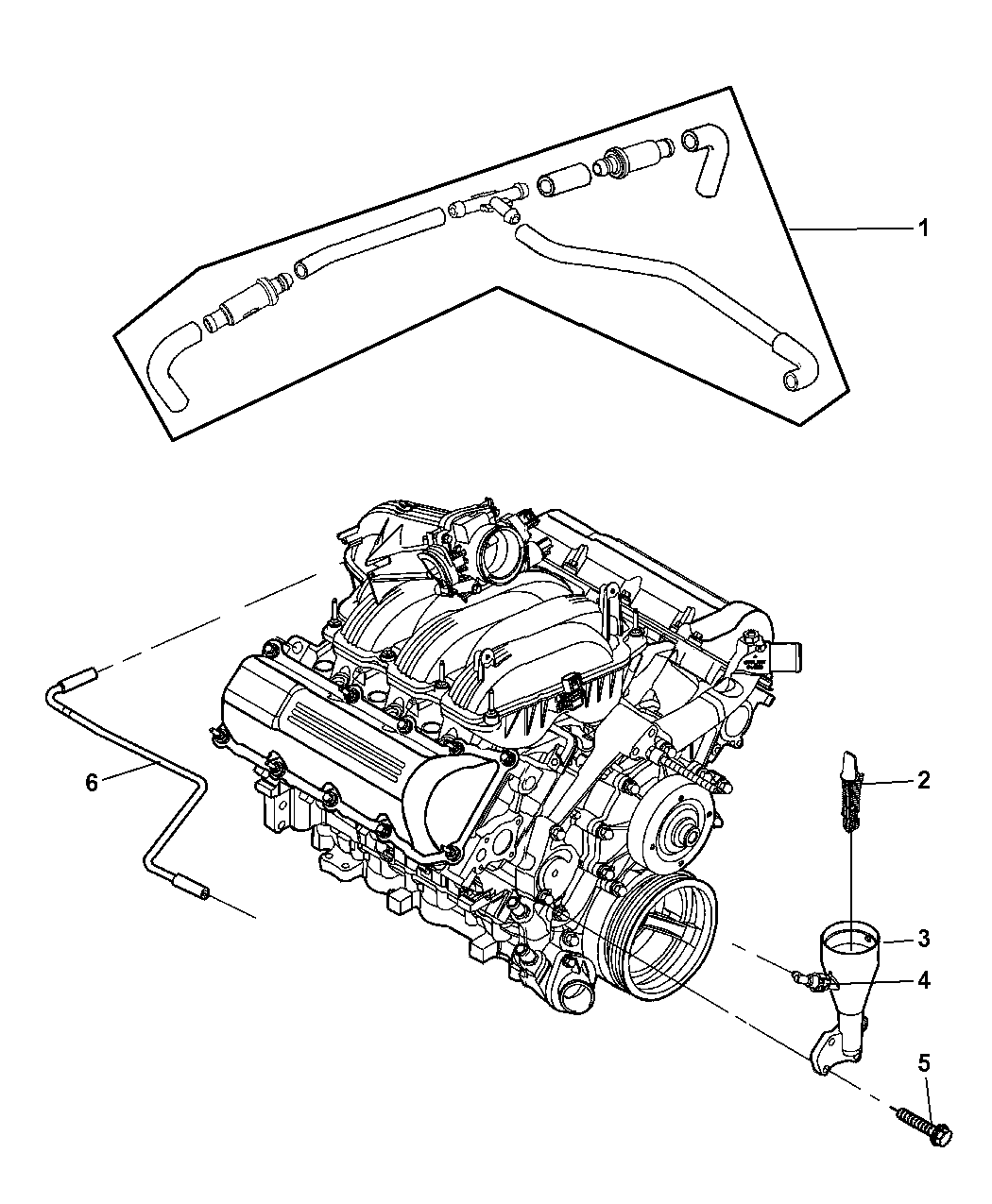 2005 Jeep Grand Cherokee Crankcase Ventilation A Map Of Wiring For Thumbnail 2