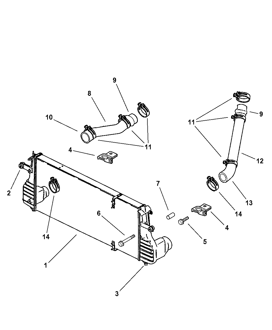 Genuine Dodge COOLER-CHARGE AIR