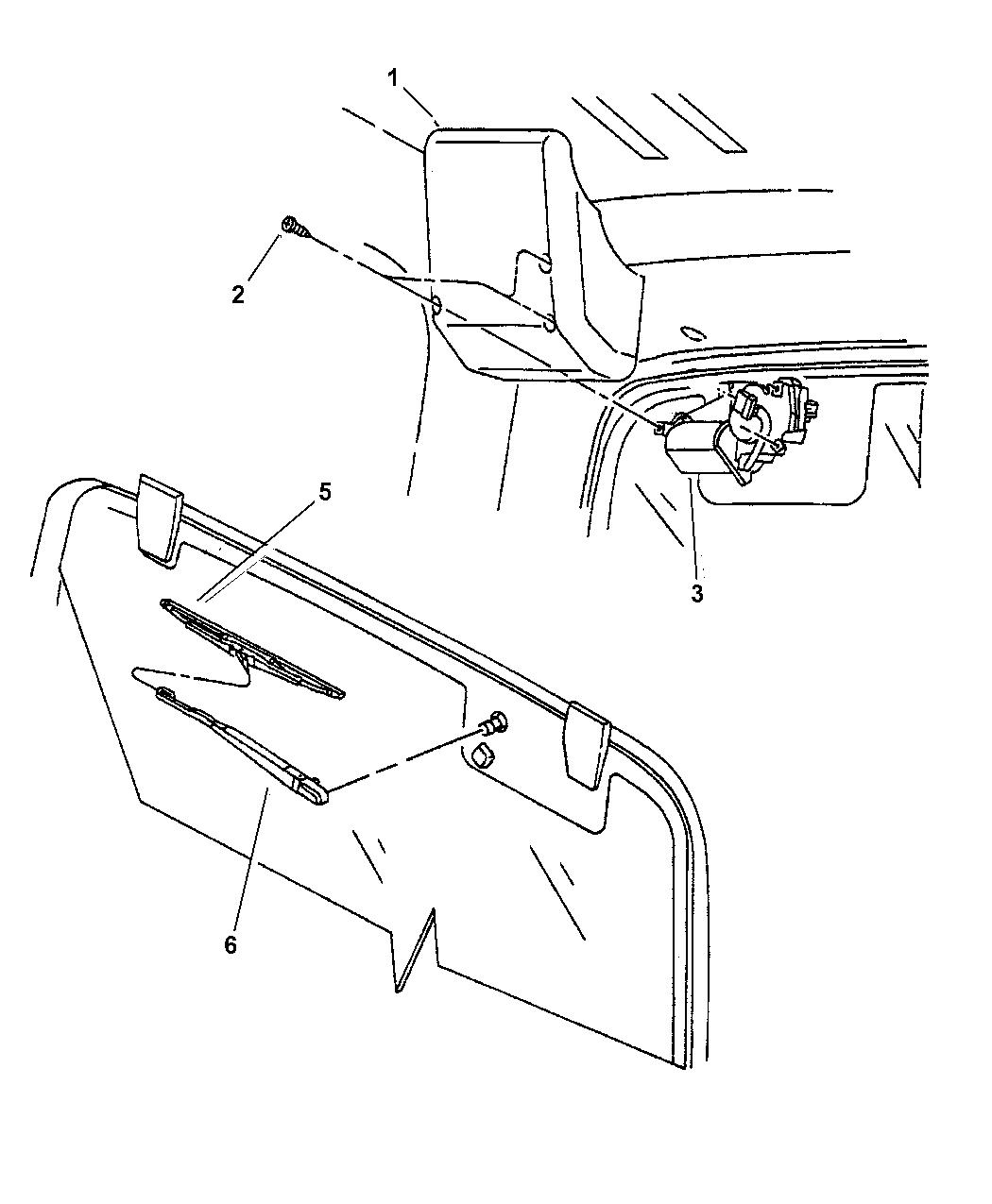 2002 Jeep Wrangler Rear Wiper System