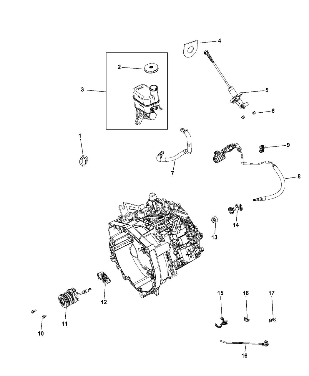 Genuine Chrysler 68211881AB Brake Master Cylinder