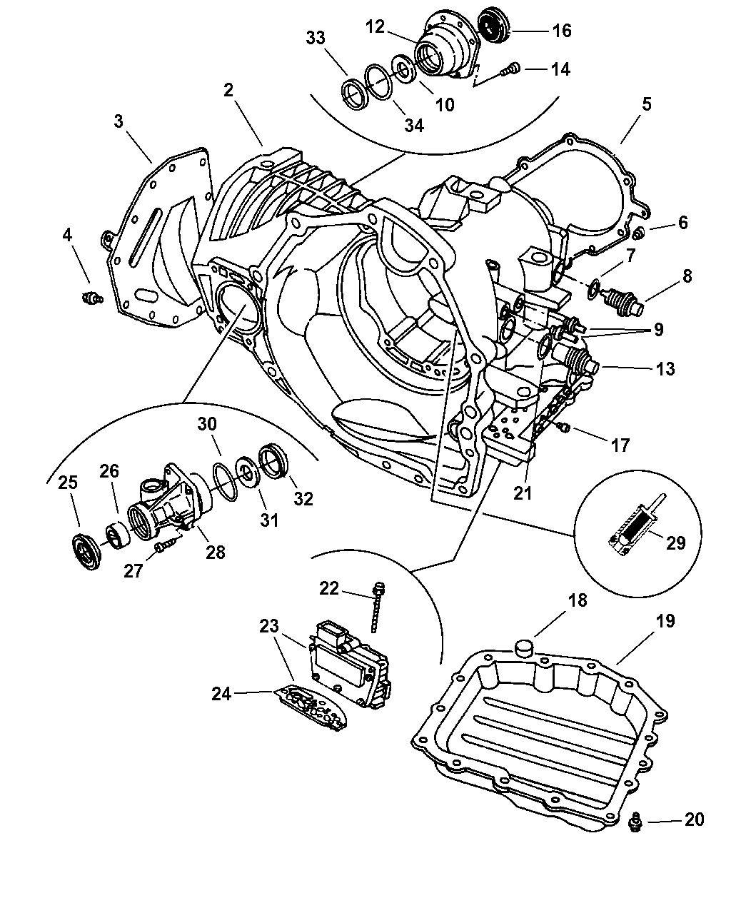 2005 Dodge Caravan Automatic Transmission Parts Diagram