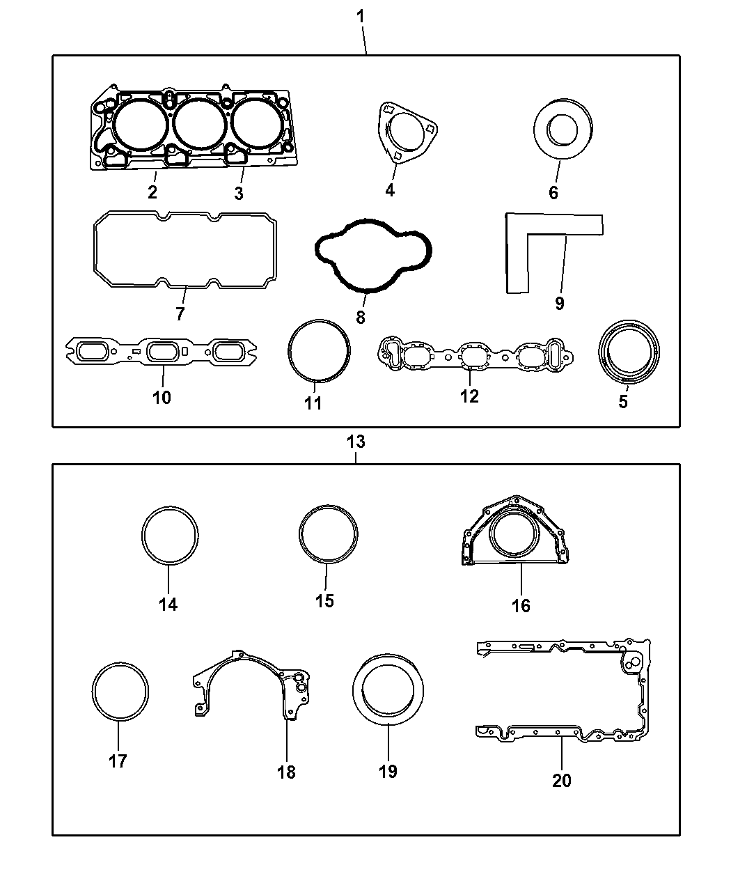 Genuine Dodge GASKET PKG-ENGINE