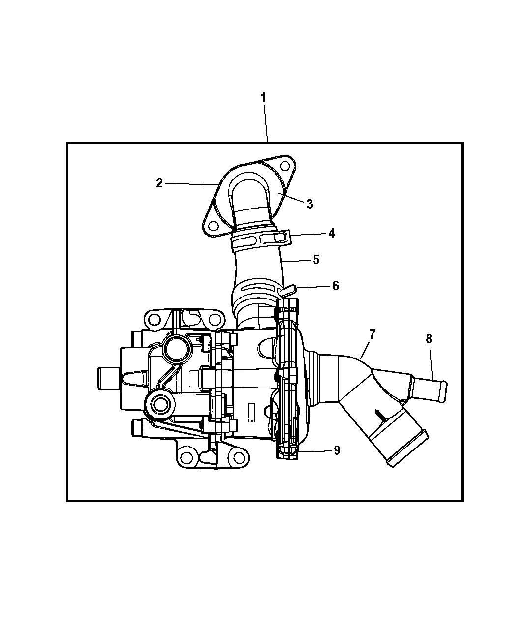 4693090AH - Genuine Mopar PUMP-POWER STEERING/WATER
