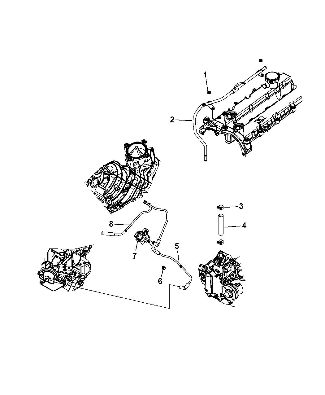 2011 Jeep Liberty Vacuum Pump    Vacuum Harness