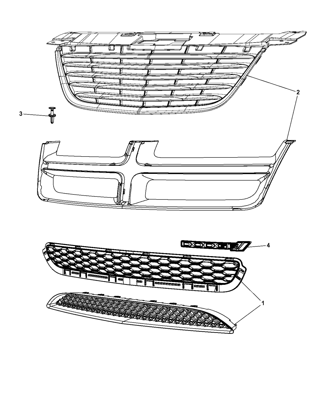 2013 Chrysler 200 Grille