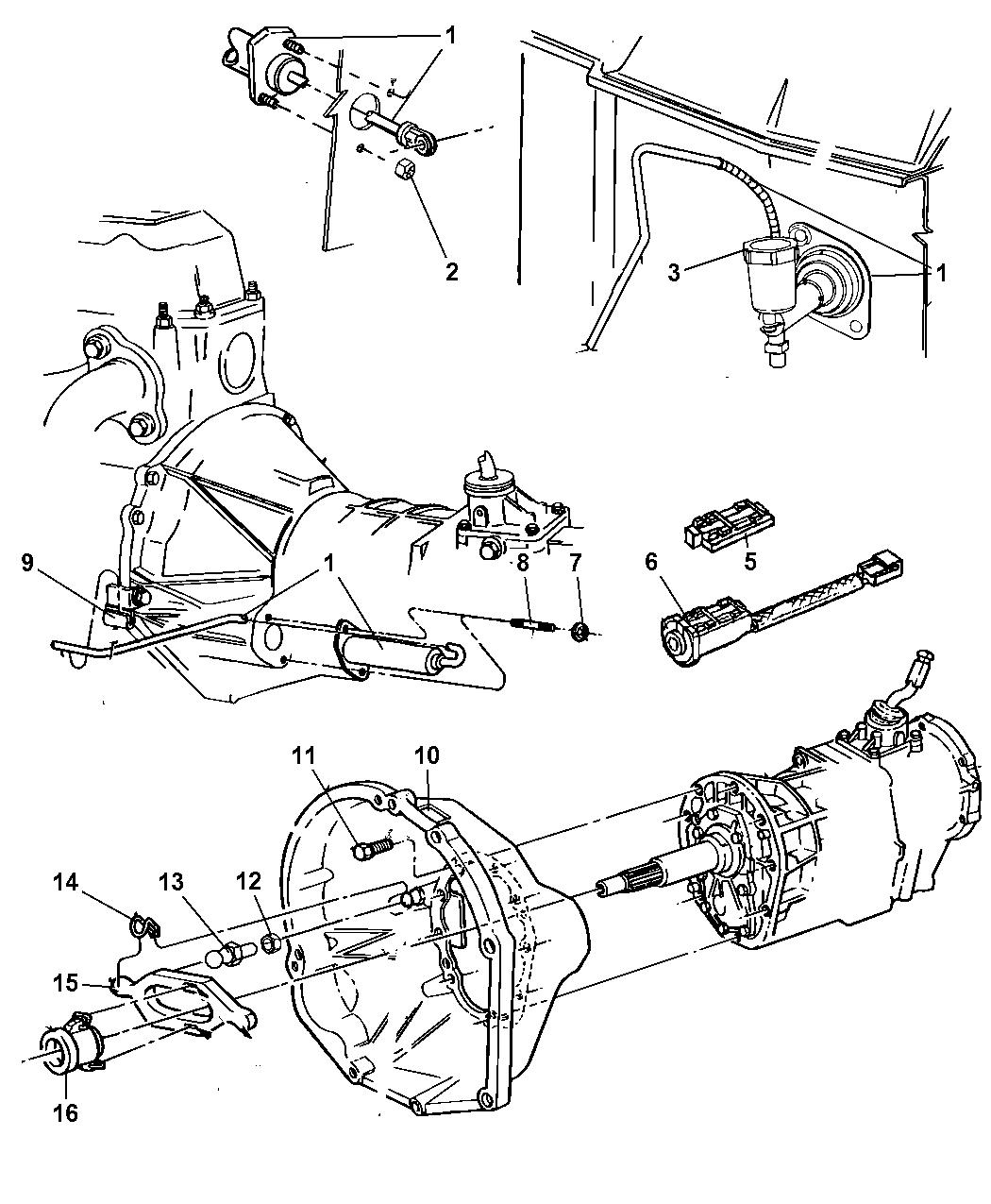 Hydraulic Controls Parts : Ab genuine mopar hydraulic control clutch actu