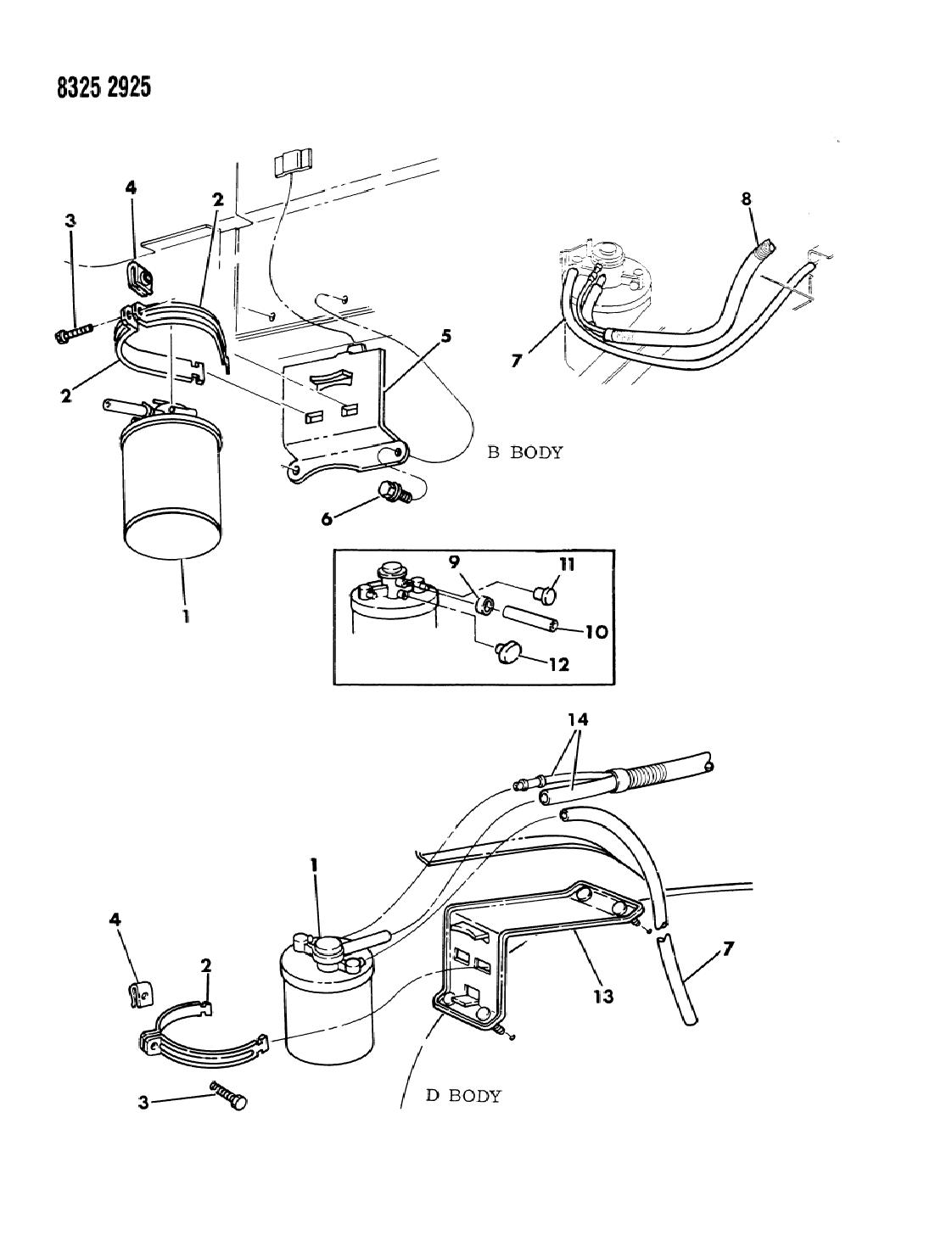 1989 dodge w250 vapor canister