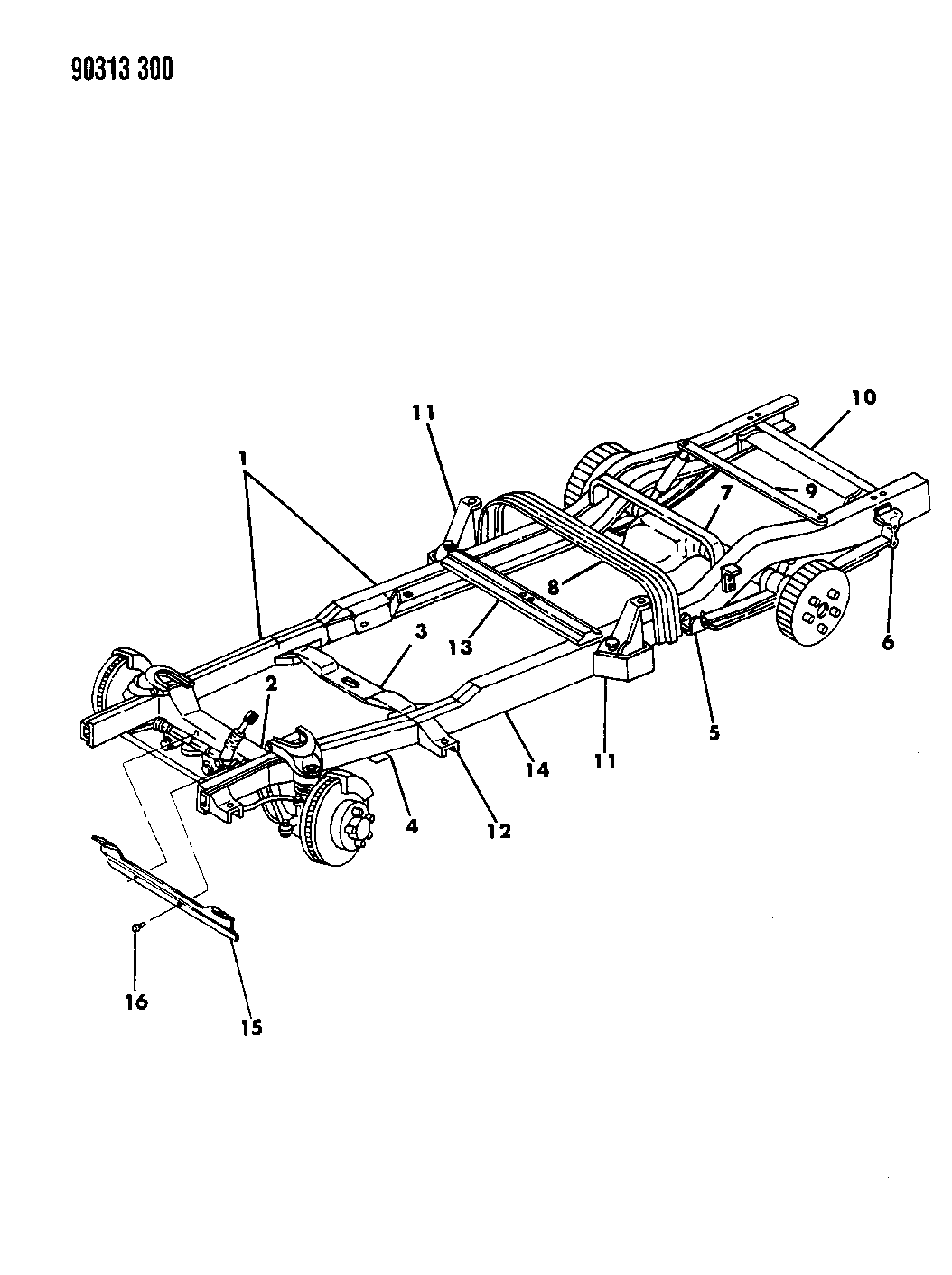 diagram 1995 dodge dakota frame