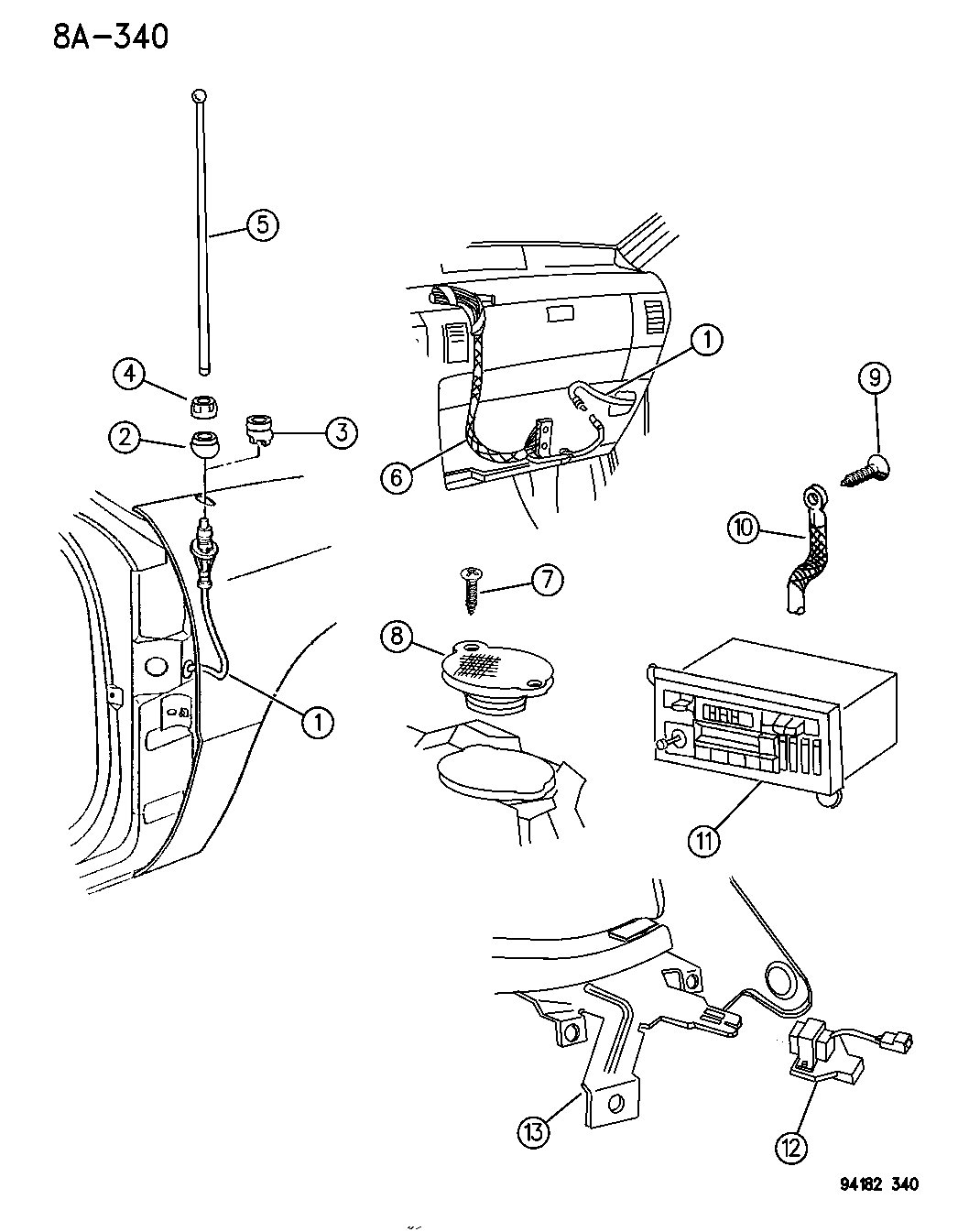 1994 Chrysler Town Country Radio Speaker Antenna Wiring Diagram