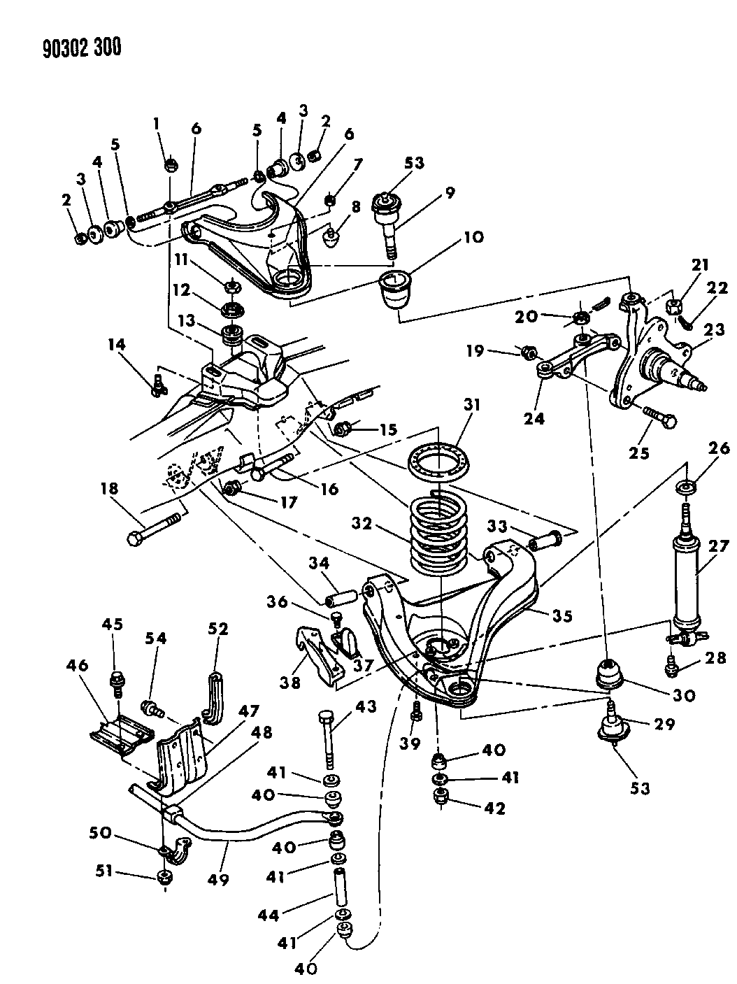 1991 Dodge Dakota Suspension - Front Coil & Shocks With Upper and Lower Control Arm & Sway Bar